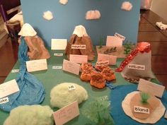 12 Best Photos of Landform School Projects Models - Landforms and Bodies of Water Project, Examples of Landform Projects and Mountain Landform Project Grade Geography Activities, Geography Lessons, Teaching Geography, Science Lessons, Science Projects, Science Activities, School Projects, Projects For Kids, Science Fair