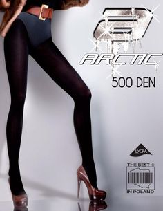 Warm Tights 500 Den Thermal+Fleece-GABRIELLA ARCTIC-500 BLACK S-XL Size