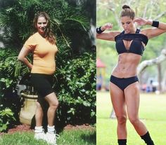 Jennifer Nicole Lee. Before and After. There really are no excuses. You can do it.