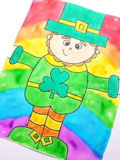 It is a picture of Smart Directed Drawing Leprechaun