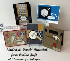 I chose to feature the Nailed It bundle for my class tutorial of the month. It looks like it's already gone and not available. I cannot believe it! Hopefully if you wanted it you already own it! I've created 5 cards using the bundle showcasing the stamps and dies in this cool bundle. Look! I cannot believe it's gone already. If you wanted it and didn't get it in time I am so sorry! The written tutorial includes step by...