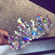 New jewerly luxury bling bling Ideas Bling Bling, Mermaid Crown, Crystal Crown, Circlet, Diy Schmuck, Tiaras And Crowns, Holographic, Hologram, Headdress