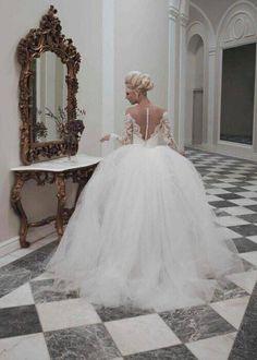 Wedding Robe, 2015 Wedding Dresses, Long Sleeve Wedding, Wedding Dress Sleeves, Wedding Attire, Bridal Dresses, Wedding Gowns, Lace Sleeves, Tulle Wedding