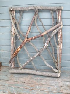 Charming Stickwork Rustic Garden Gate, Fence Gate
