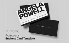Professional and Minimalist Business Card V.14 Corporate Identity Template