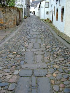 Culross (pronounced Koo-russ) on the edge of the Firth of Forth, Fife, Scotland