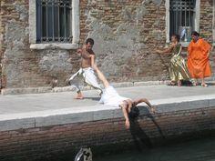 unsere Modelle in vollem Einsatz ;) Open Academy, Summer 2015, Venice, Venice Italy