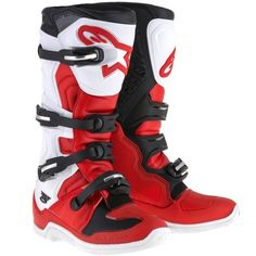Alpinestars 2016 Tech 5 MX Boots Red / White / Black - V1mx