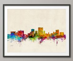 El Paso Skyline, El Paso Texas Cityscape Art Print (249) by artPause on Etsy https://www.etsy.com/listing/173666185/el-paso-skyline-el-paso-texas-cityscape