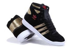 Adidas High Tops Shoes Gold Snake Scale Black for Men and Women
