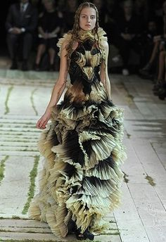 The talent, oh the talent...such wonderful use of ombre, shades, folds and proportion. (McQueen)