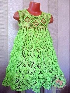 Сарафанчик для девочки крючком. Схема http://labhousehold.com/dress-for-girls-3-4-years-crochet.html