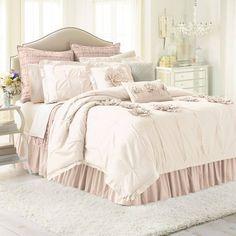 LC Lauren Conrad Chloe Comforter Set (White)