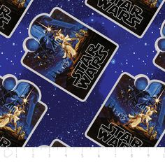 100% Cotton Quilting Star Wars Print Fabric by the Yard