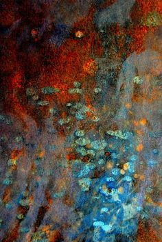 Get lost in the ethereal beauty of this abstract art print. Contemporary abstract composition using digital images of rusted and weathered metal surfaces. Using digital photography images, the high qu More