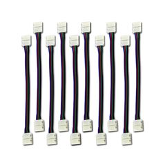 Zitrades 10PCS LED 5050 RGB Strip Light Connector 4 Conductor 10 mm Wide Strip to Strip Jumper >>> For more information, visit now : home diy lighting