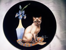 "ALDO FAZIO RECO ""SAMANTHA"" SOPHISTICATED LADIES CAT PLATE China, Lady, Animals, Cat Design, Art, Dishes, Porcelain"