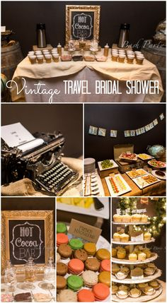 great vintage travel bridal shower ideas hot cocoa bar see more party ideas at