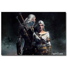 """Geralt - The Witcher 3 Wild Hunt Hot Game Art Silk Fabric Poster Print 12x18 20x30 24x36 32x48"""" Pictures For Room Decor 027  http://ali.pub/4bc9r"""