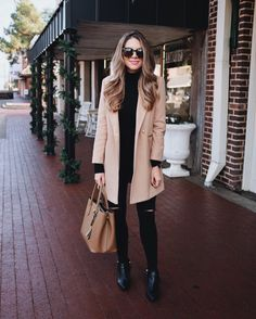 Winter Outfit with a perfect camel coat by Ashley Robertson (@theteacherdiva)
