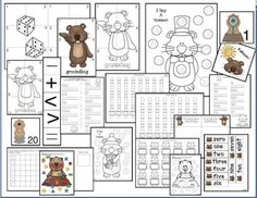 Groundhog Day activities: A nice variety of grade math games, activities, worksheets & centers with a groundhog theme. 1st Grade Math Games, Groundhog Day Activities, Ground Hog, February Holidays, Homeschooling, Worksheets, Nice, Blog, Crafts
