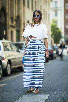 O azul da saia