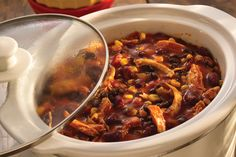 Slow Cooker Chicken Taco Chili   S&W Beans Recipe
