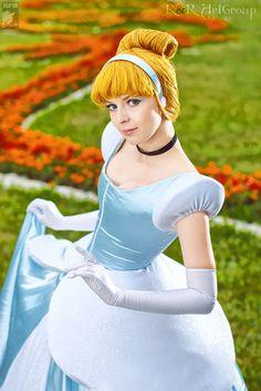 Cinderella cosplay.