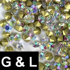 Retail 2016 Glitter Crystal AB Pointback Glass Rhinestones ss26-ss40 288pcs DIY Jewelry Making For Nail Art Decoration
