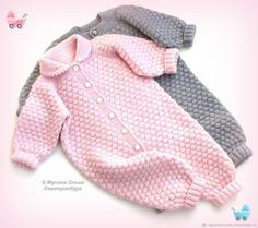 Jumpsuit for baby Bubbles - buy or order in the online store at the Fair of Masters - EkaterinburgThis Pin was discovered by ner Baby Knitting Patterns, Baby Booties Knitting Pattern, Baby Sweater Patterns, Knitting For Kids, Baby Patterns, Knitted Baby Outfits, Knitted Baby Clothes, Crochet Clothes, Knitted Romper