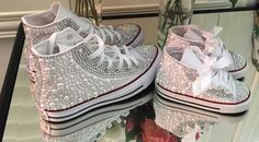 Blinged out Converses