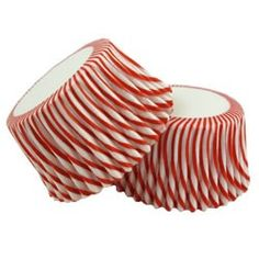 circus red stripe cupcake liners - 50 for $3.50