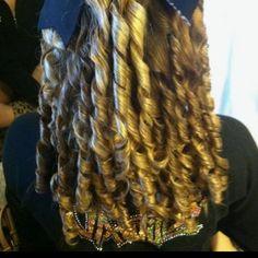 Virginia Wild Allstar Cheer Hair ! Took me 2 hours !!!