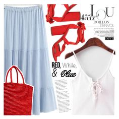 """Red, White and Blue Fashion"" by vanjazivadinovic ❤ liked on Polyvore featuring KG Kurt Geiger, Sensi Studio, redwhiteandblue, july4th, polyvoreeditorial, Poyvore and zaful"
