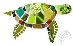 Sea Turtle Collage Print by brokenwingscreations on Etsy, $20.00