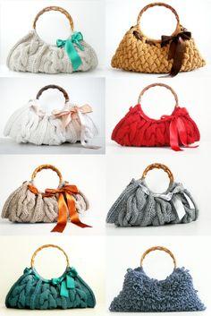 bolsos de punto tejido
