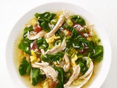 Chinese Chicken and Rice Soup recipe from Food Network Kitchen via Food Network