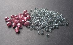 Pink and Gray Bead Palette