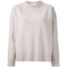 Le Ciel Bleu Crew Neck Sweater (9.320 RUB) ❤ liked on Polyvore featuring tops, sweaters, shirts, crew neck shirt, crewneck shirt, shirts & tops, pink shirt and wool crew neck sweater