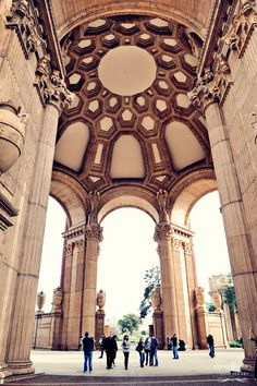 Palace of Fine Arts ~ San Francisco, California, can you see the two angels