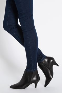 Kitten Heel Ankle Boots - Boot Hto