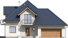 Elewacja ARD Kasztan 2 paliwo stałe CE Design Case, Window Design, Malaga, Home Fashion, Alter, My House, Beautiful Homes, Villa, Floor Plans