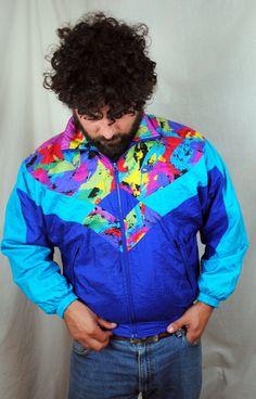 Vintage 90s Rainbow Neon NIKE Jacket Windbreaker