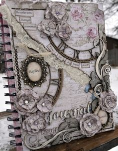 Life's little Embellishments: Maja Design*** Mood Board Jan**** with a journal cover; Scrapbooking Album, Scrapbook Journal, Mini Scrapbook Albums, Handmade Journals, Handmade Books, Handmade Notebook, Handmade Rugs, Handmade Crafts, Mixed Media Journal
