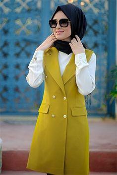 Maskülen Yelek Islamic Fashion, Muslim Fashion, Modest Fashion, Hijab Fashion, Fashion Outfits, Modest Outfits, Fall Outfits, Casual Outfits, Muslim Dress