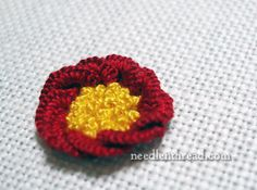 Cast-On Stitch Flower