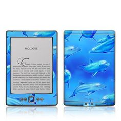 Decalgirl Kindle Skin - Swimming Dolphins by DecalGirl. $14.99. DecalGirl skins for Kindle feature distinct artwork printed in vibrant color onto premium adhesive-backed cast vinyl that is then sealed with a special sating/matte protective coating to reduce glare and prevent fingerpints.  Printed in the USA.