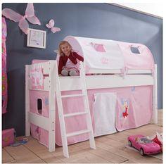 Enorm schattig, deze #halfhoogslaper met #tunneltenten. Een betaalbaar #prinsessenbed, passend in elke #meisjeskamer! Bunk Beds, Toddler Bed, Loft, Furniture, Home Decor, Medium, Bed Ideas, Pool Chairs, Child Bed
