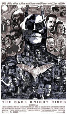 The Dark Knight Rises poster by Matthew Brazier