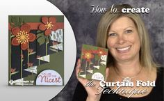 VIDEO: How to make a Curtain Fold Technique Card | Stampin Up Demonstrator - Tami White - Stamp With Tami Crafting and Card-Making Stampin Up blog